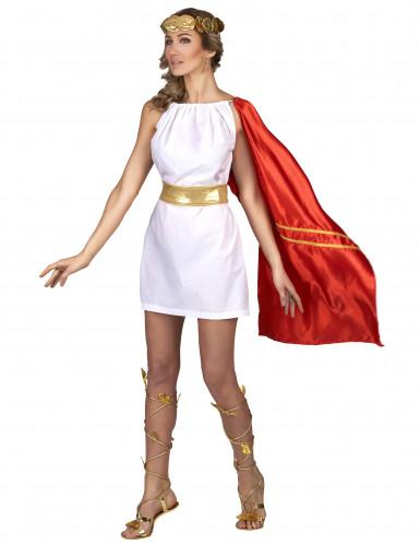 Disfraz romana rojo y dorado mujer-1