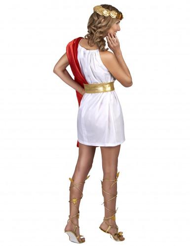 Disfraz romana rojo y dorado mujer-2