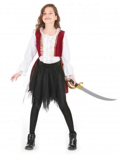 Disfraz pirata rojo y tutú negro niña-1