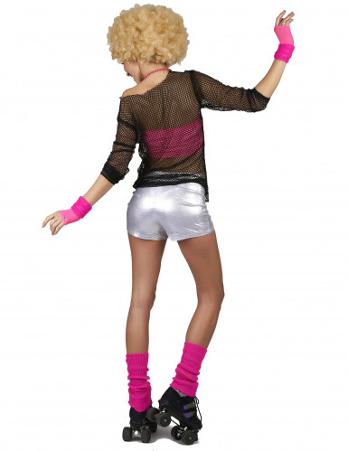 Pantalón disco plateado mujer-2