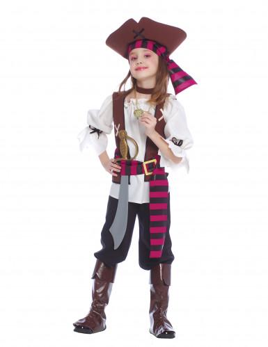 Disfraz pirata de los 7 mares niña