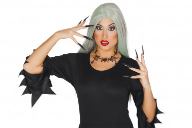 Collar arañas mujer Halloween