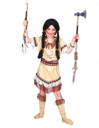 Disfraz de india flecos niña