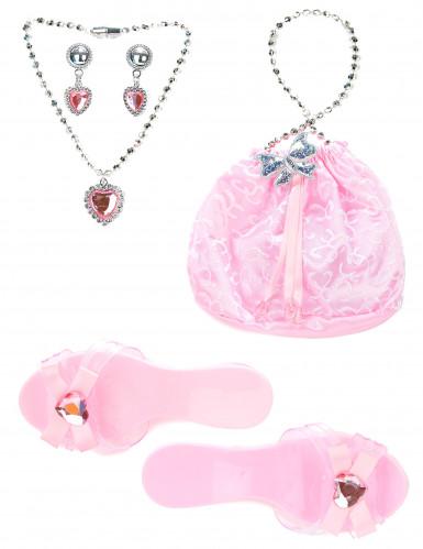 Accesorios princesa rosa niña