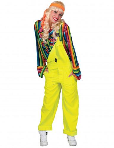 Disfraz traje amarillo fluo adulto