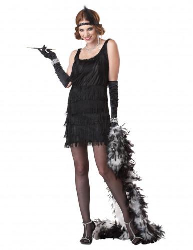 Disfraz charlestón negro mujer