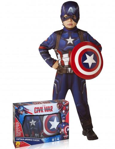 Disfraz de Capitán América con escudo clásico - Los Vengadores™ caja