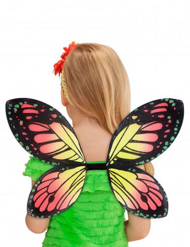 Alas de mariposa multicolor niña-2