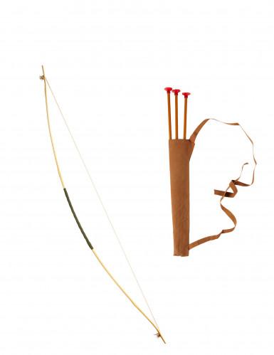 Arco con estuche y flechas 100 cms