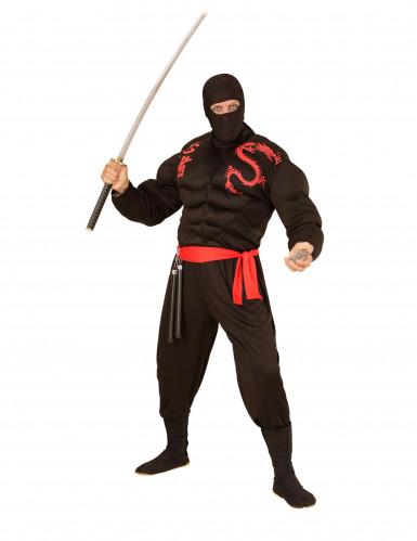 Pasamontañas negro de ninja adulto-1