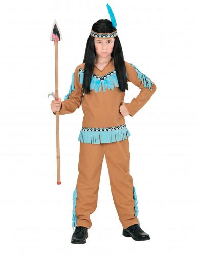Disfraz de indio azul para niño-1