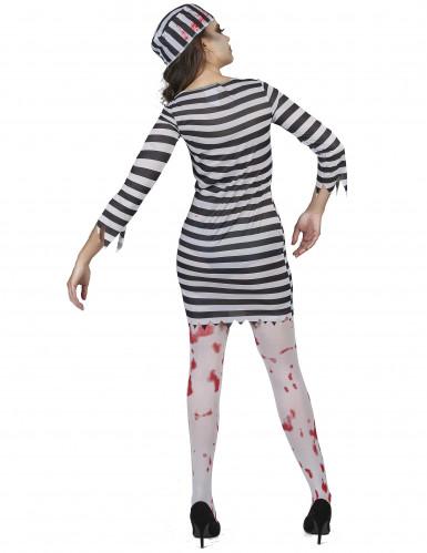 Disfraz de prisionera zombie mujer-2
