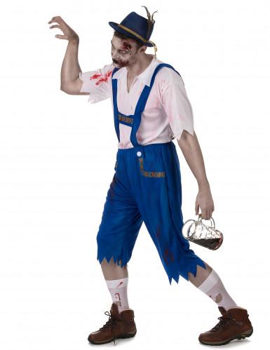 Disfraz de bávaro zombie azul hombre-1