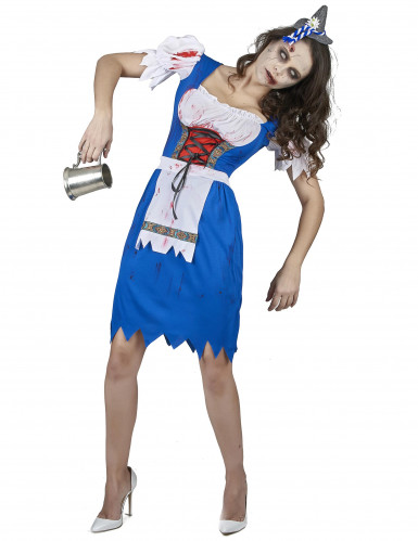 Disfraz de bávara zombie mujer