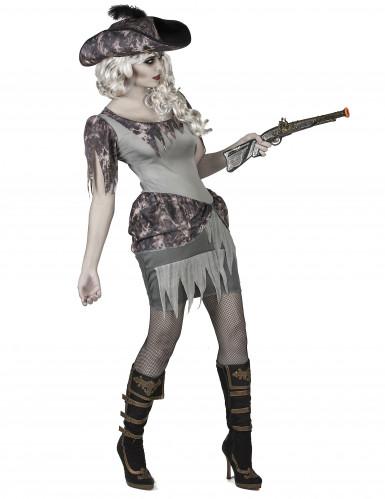 Disfraz pirata fantasma gris mujer-1