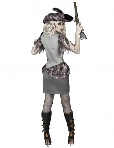 Disfraz pirata fantasma gris mujer-2