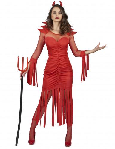 Disfraz de demonio del fuego mujer