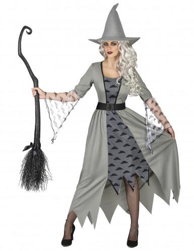Disfraz de bruja gris mujer