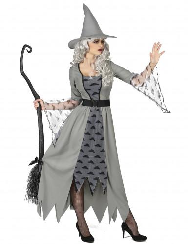 Disfraz de bruja gris mujer-1