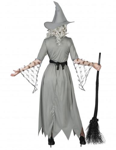Disfraz de bruja gris mujer-2