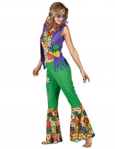 Disfraz de hippie flower power mujer-1