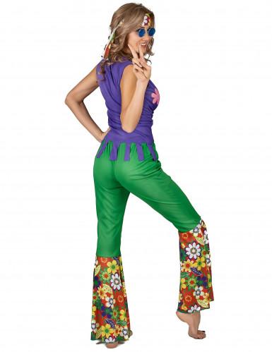 Disfraz de hippie flower power mujer-2