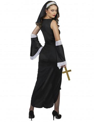 Disfraz de monja sexy cruz blanca mujer-2