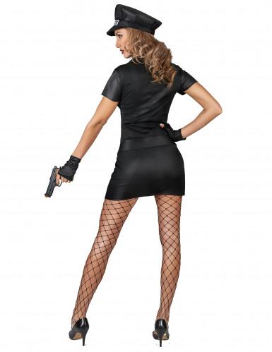 Disfraz policía sexy mujer negro-2