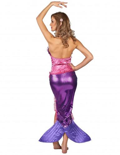 Disfraz de sirena rosa mujer-2