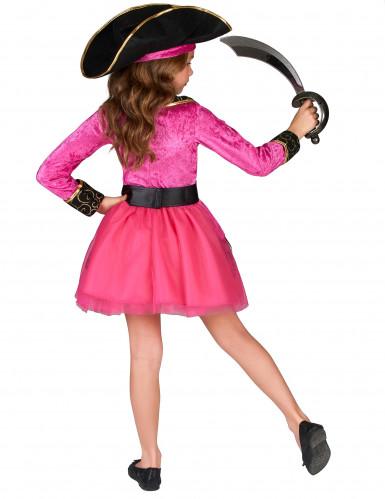 Disfraz de pirata rosa y dorado niña-2
