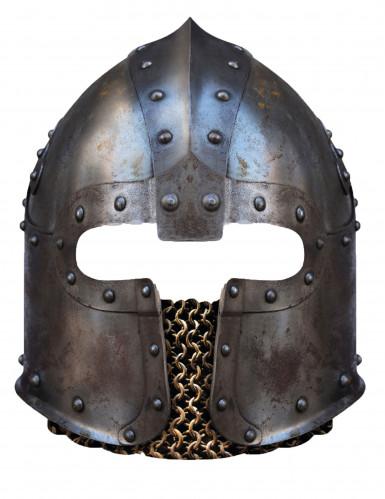 Máscara de cartón casco normando