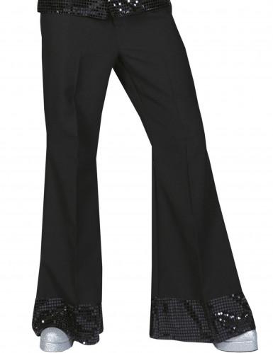 Pantalón disco negro con lentejuelas hombre