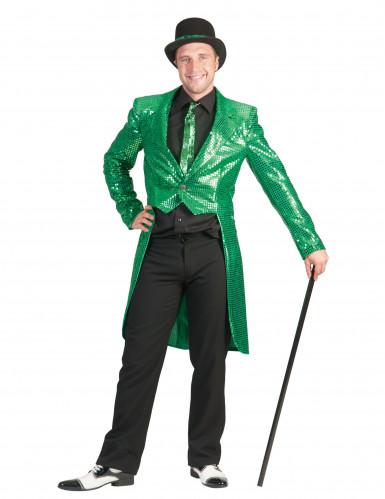 Chaqué verde con lenejuelas para Hombre