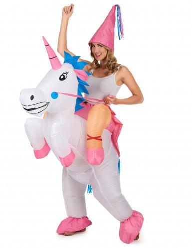 Disfraz de unicornio hinchable adulto