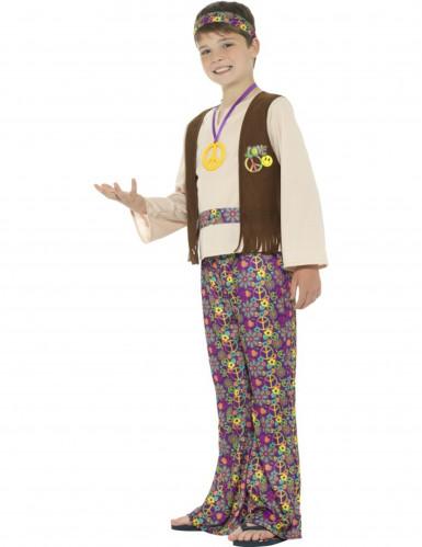 Disfraz Hippie peace para niño-2