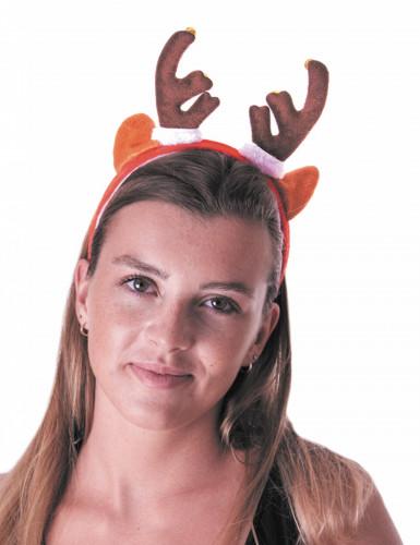 Diadema reno con cascabel adulto Navidad