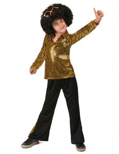 Disfraz disco dorado niño