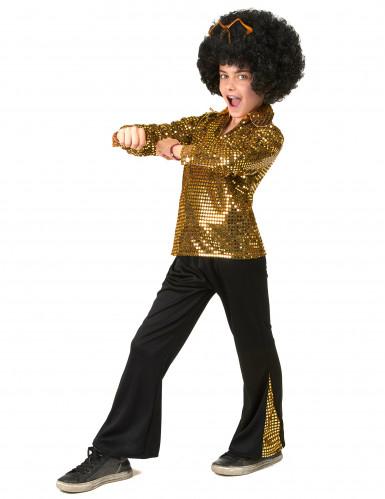 Disfraz Disco Dorado niño  -1