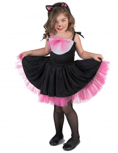 Disfraz de gato tutú negro y rosa niña-1