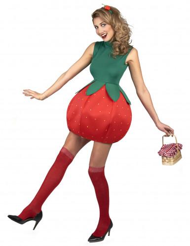Disfraz vestido fresa Mujer-1