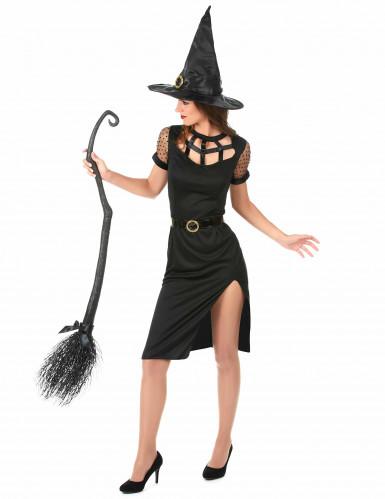 Disfraz de bruja sexy negro Halloween mujer-1