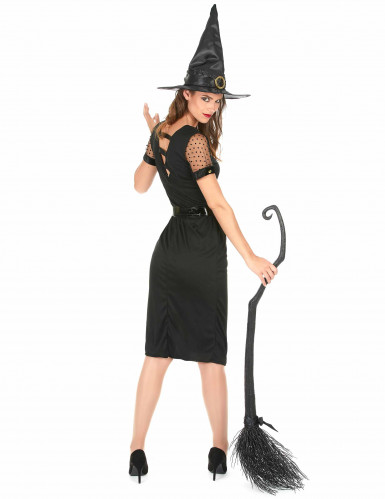 Disfraz de bruja sexy negro Halloween mujer-2