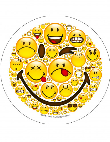 Disco de azúcar Smiley™ 21 cm aletatorio-3