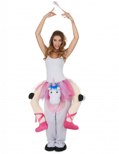 Disfraz de bailarina montada en unicornio adulto