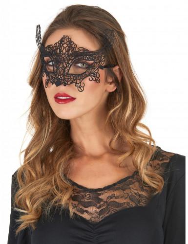 Máscara veneciana encaje negro para mujer