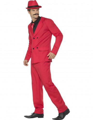 Disfraz de gánster rojo hombre-1