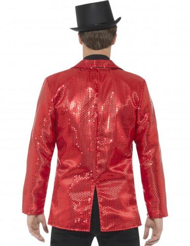 Chaqueta disco roja de lentejuelas lujo hombre-2