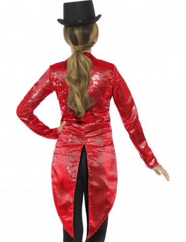 Chaqué rojo con lentejuelas mujer-1