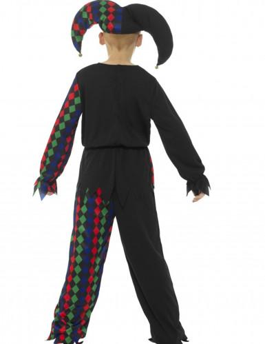Disfraz esqueleto bufón niño Halloween-1