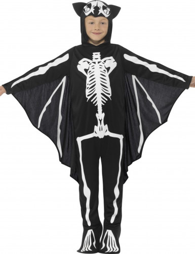 Disfraz esqueleto murciélago niño Halloween